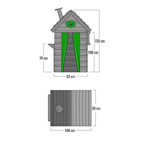 FATMOOSE Kinder-Spielhaus BeetleBox Bling XXL Spielhaus Garten Holz mit hoher Theke und Dach mit Schornstein - 5