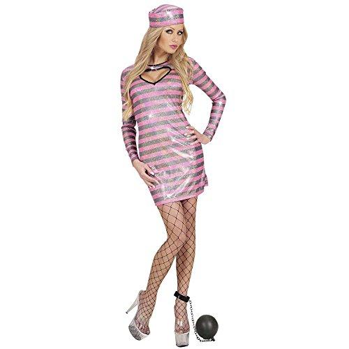 Widmann 77283 Erwachsenenkostüm Häftlings Girl, Kleid und Hut, L, L (Polizei-kleid Für Kid Online)