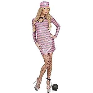 WIDMANN Adultos Disfraz häftlings Girl, vestido y sombrero