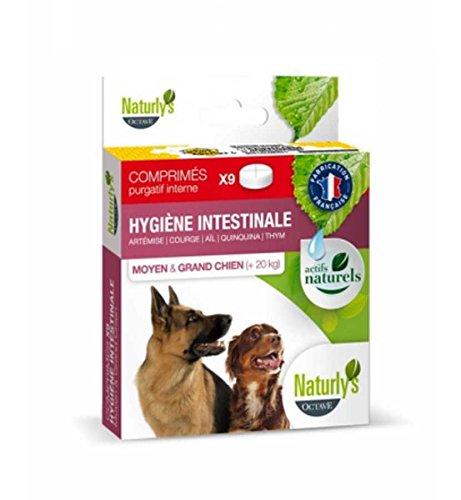 Naturlys Octave Wurmmittel für Hunde und Katzen, Naturprodukt, für große Hunde, 9 Tabletten