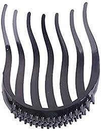 TOOGOO (R) Negro Clip insertado de volumen de la Mujer para Cola de caballo Peine de pelo de estilos sueltos