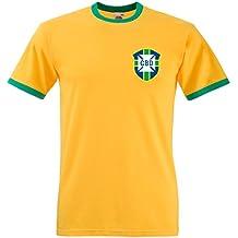 Camiseta de manga corta de Pelé de Brasil, Mundial de fútbol ...
