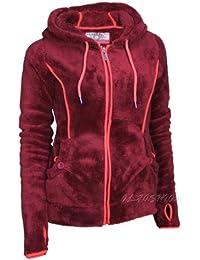 Urban Surface Damen Fleece Jacke mit Kapuze SLIM FIT