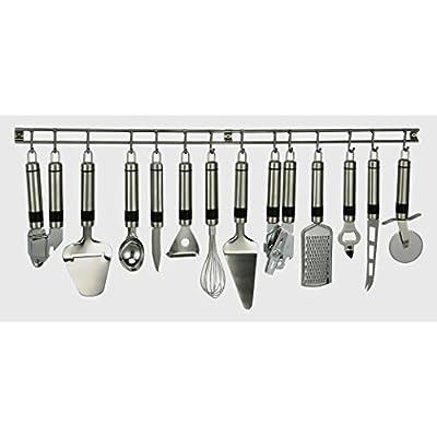 13 Tlg Edelstahl Kchenhelfer Set Hngeleiste Kchenutensilien Kochzubehr