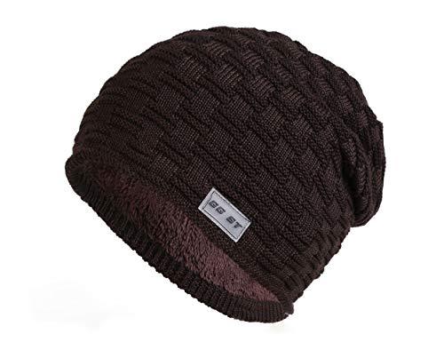 GG ST Wintermütze Slouch Beanie Hüte Warmen Dicke Knit Hat Skimütze Strickmütze Skull Cap Herren & Damen Knit Slouch Hut