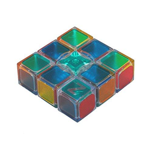 Preisvergleich Produktbild Wings of wind - Neuer Plastik 1X3X3 Aufkleber magischer Würfel, Geschwindigkeit und glattes Puzzlespiel-magischer Würfel (Transparent)