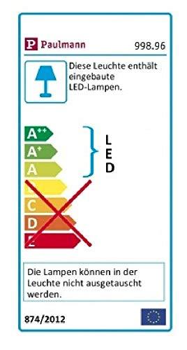 Paulmann 99896 Galeria Bilderleuchte LED Bildbeleuchtung Beam Sixty Galeriebeleuchtung 11W Aufsatzlampe Nickel gebürstet Strahler inkl. Leuchtmittel