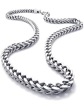 KONOV Schmuck Herren-Kette, Edelstahl Biker Königskette Halskette, Silber, Breite 6mm, Länge 55cm