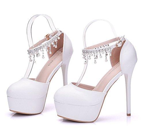 Zapatos de Novia  Primavera Dulce Boda Zapatos Rhinestone Zapatos Tacón   Mujer Elegante Tacón aa8d4fc3cc2