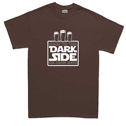 Dark Side Beer Funny T-shirt Brown