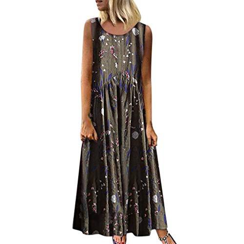 895ed22ef7 SANFASHION Robe de Loisirs Vintage à Manches Longues pour Femmes