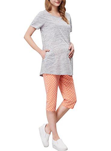 Grau Umstandskleid (Stylish / Large Size / Qualität Fabrics Umstandskleid (Grau))