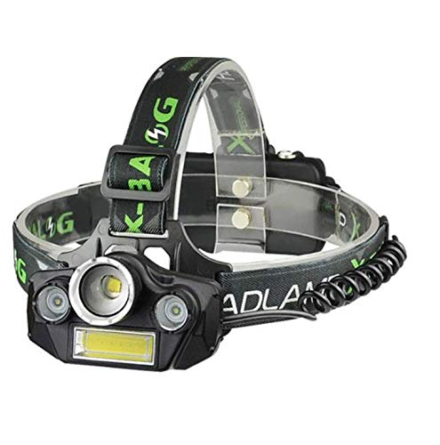 Scheinwerfer COB + T6 + XPE Blendung Weitwinkel-Zoom USB-Ladescheinwerfer LED-Außenscheinwerfer