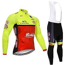 Amazon.es  Culotte Largo Ciclismo - Amarillo c84da4827fc9a