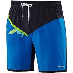 Head Vision Cross - Pantalón corto para hombre, color azul, talla L