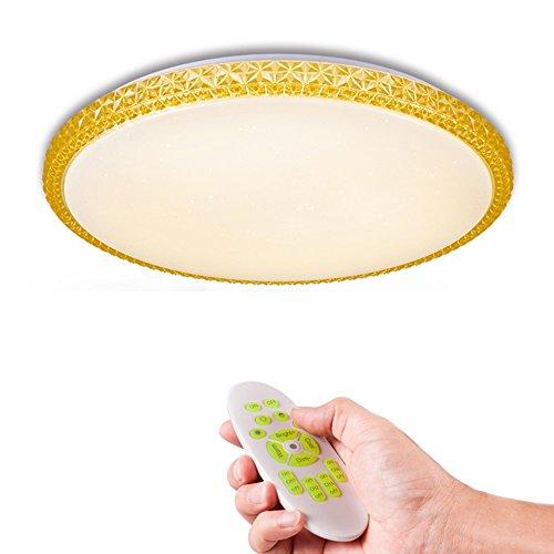 KAIRRY LED Deckenleuchte 2.4G RF Fernbedienung Dimmbare Deckenlampe Wohnzimmerlampe Küchenleuchte Innenleuchte Modern Energiespar Smart Deckenbeleuchtung 165V-265 (Größe : 400MM*65MM)