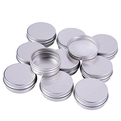 Sumind 15 ml Aluminium Schraube Döschen Töpfe Kosmetik Makeup Krug Runde Creme Container, 10 Stück, Silber Farbe Test