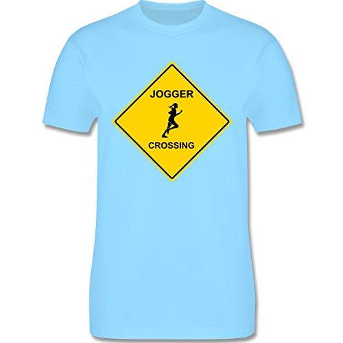 Laufsport - Joggerin - Herren Premium T-Shirt Hellblau