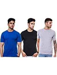 EnquotismPack Of 3 Plain Round Neck T-shirts