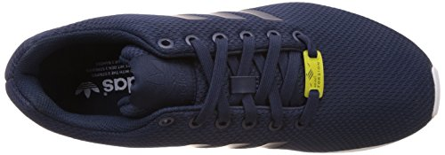 Adidas Originals Zx Flux, Chaussons Sneaker Adulte Mixte - Noir (Black 1/Black 1/White), 38.66 EU Bleu (New Navy/New Navy/Running White)