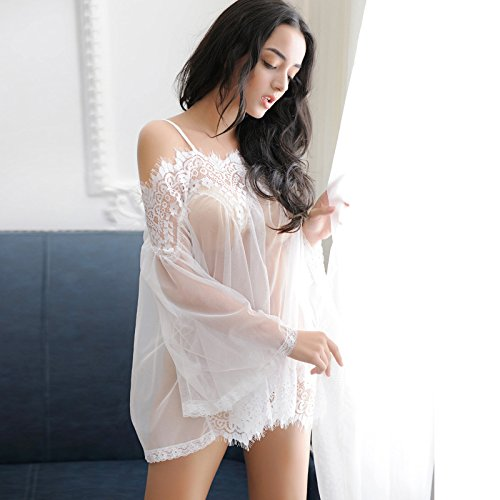 TBOP LINGERIE Sexy babydoll temptation transparent sling lingerie in white color with match pantie