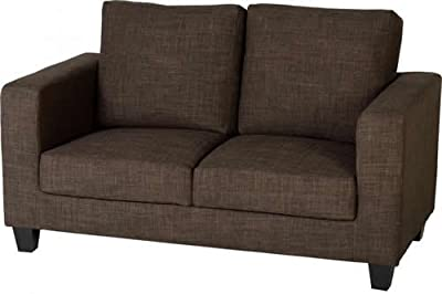 Tempo Two Seater Sofa in a Box in Dark Brown Fabric