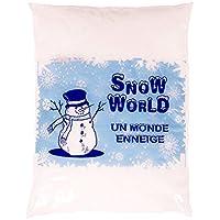 Sachet de neige artificielle - Un monde enneigé - environ 3 litres – neige intérieur / extérieur décorative – Décoration de Noël – Fausse neige pour décorer votre maison