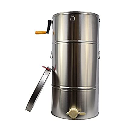 TTLIFE 2 frame Stainless Steel Radial Honey Extractor for Keeping Bee filters dispenser press machine 1