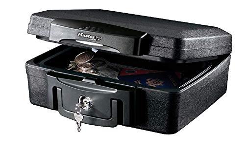 Master Lock H0100EURHRO Dokumentenbox Geldkassette [Feuerfeste und wasserdichte] Ausweise, Bilder, Kleine Elektrogeräte, Speichermedien