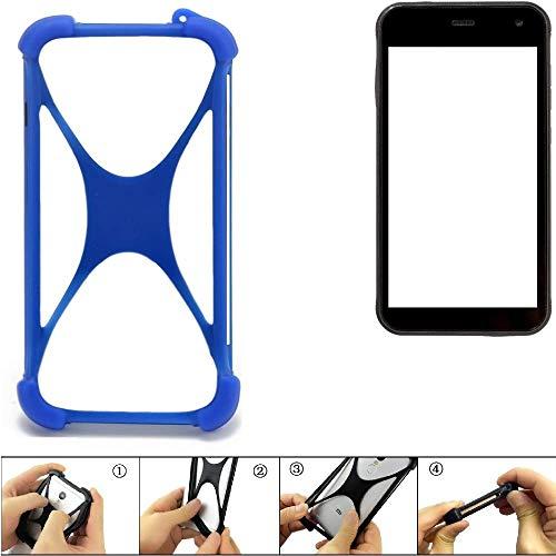 K-S-Trade Handyhülle Cyrus CS 22 Silikon Schutz Hülle Cover Case Bumper Silikoncase TPU Softcase Schutzhülle Smartphone Stoßschutz, blau (1x)