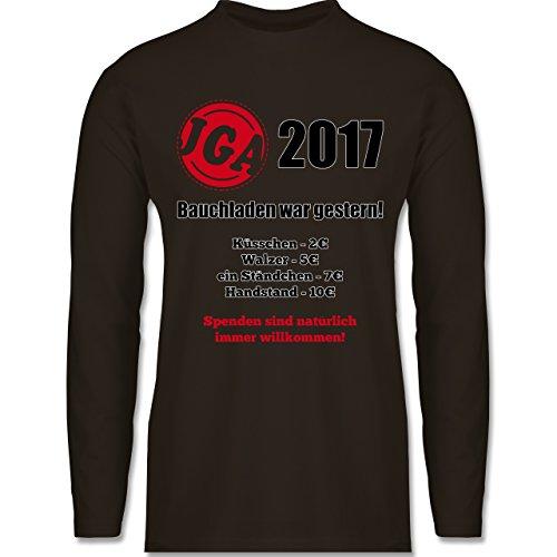 JGA Junggesellenabschied - Bauchladen war gestern! 2017 - Longsleeve / langärmeliges T-Shirt für Herren Braun