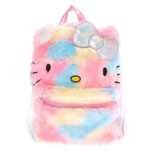 Claire's Rucksäcke für die Schule mit Schultergurten, Rainbow Hello Kitty (Mehrfarbig) - 05326445665