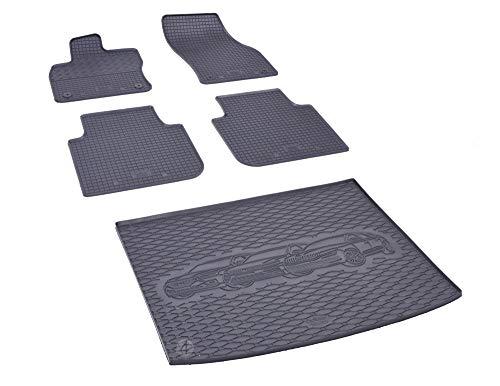 Passgenaue Kofferraumwanne und Gummifußmatten geeignet für VW Tiguan Allspace ab 2017