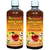 NutrActive™ Apple Cider Vinegar With Ginger, Garlic, Lemon & Honey - Pack Of 2 (500 Ml )