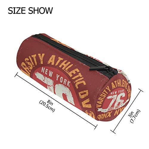 tizorax New York City Typografie Grafiken Federmäppchen Pen Tasche mit Reißverschluss Münze Organizer Make-up costmetic Tasche für Frauen Mädchen Jungen Teenager Kinder