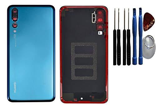 Cache batterie pour Huawei P20 PRO BLEU cache batterie, cache arrière/ lentille de caméra/Film adhésif / Outils