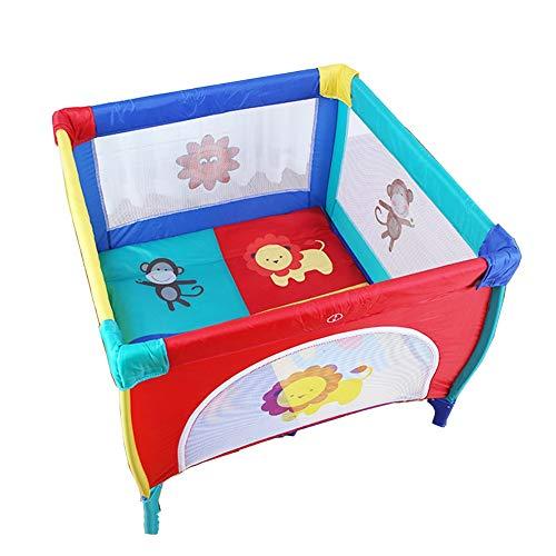 Corralito Cuna de Viaje portátil para bebé de 120 × 120 cm, Cama de Cuna Infantil Centro de Juegos, Marco Plegable