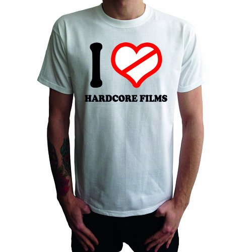I don't love Hardcore Films Herren T-Shirt Weiß