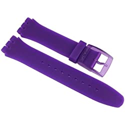 Swatch Purple Lacquered Replacement Band Watch Band Silikon Strap violet 19mm for New Gent SUOV100