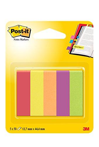 Post-it 12.7 x 44.4 mm Notas Marcadores Jaipur Pads (Pack de 5)