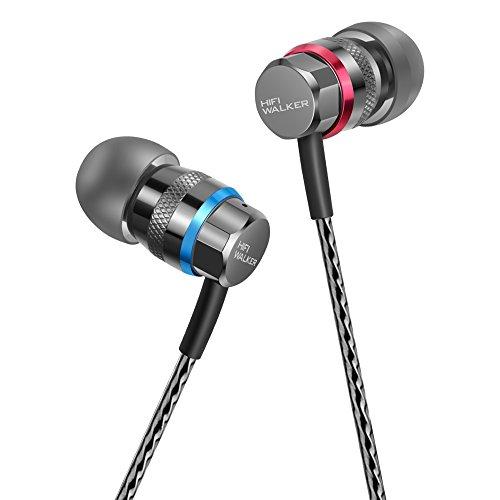 Cyber Monday Woche, HIFI WALKER A1 Hochauflösende In-Ear-Kopfhörer (Kopfhörer Ohrhörer Geräuschdämpfung Headset) mit Fernbedienung und Mikrofon - 1 Jahr brandneue Ersatzgarantie