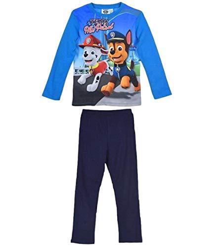 Paw Patrol Schlafanzug Jungen Pyjama Ökotex Standard 100 (Marine, 110-116)