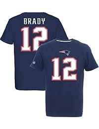 Majestic NFL TOM BRADY #12 - NEW ENGLAND PATRIOTS Player T-Shirt, Größe:M