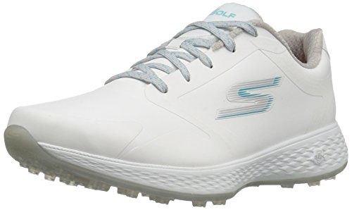 Skechers Performance Women's Go Golf Elite 2 Tour Golf Shoe, White/Blue, 8.5...