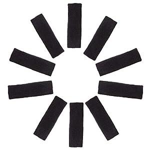 Kurtzy 10 teiliges Set Stirnband Schweißbänder Kopf Band Sportband Sport Schweißbänder für Männer, Frauen und Kinder – Elastische Stirnbänder für Sport, Radsport, Radfahren, Gymnastik und Athletik