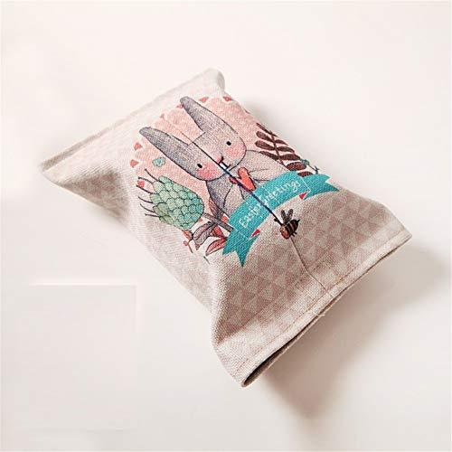 Esquisite Life Tissue-Box Kaninchen Mode Baumwolle Und Leinen Papiertüte Handgefertigten Stoff Restaurant Couchtisch Papier Handtuch Set Auto, D-Modelle