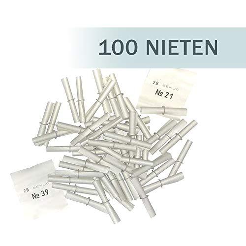 (PARTY DISCOUNT Röllchenlose Nieten weiß, 100 Stück)