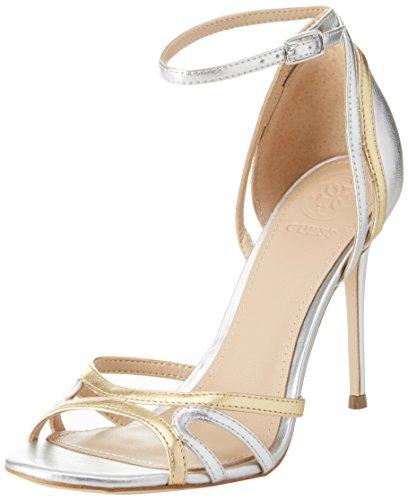 Guess Footwear Dress Sandal, Scarpe con Cinturino Alla Caviglia Donna Oro