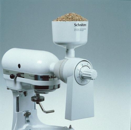 Getreidemühle, Steinmahlwerk für KitchenAid® ganz aus Metall