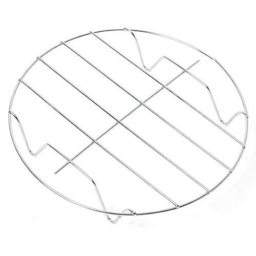 Steaming rack anti-scalding pentole vassoio rotondo pentola per cottura di raffreddamento supporto argento (4.5x 19.5cm)